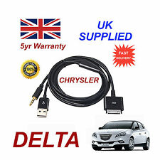 CHRYSLER DELTA MULTIMEDIA ADAPTER 71805430 iPhone iPod USB & Aux Cable in black