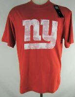 New York Giants NFL Team Apparel Mens Distressed Large Logo Short Sleeve T-shirt