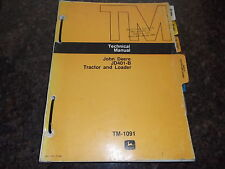 JOHN DEERE JD401-B TRACTOR & LOADER SERVICE SHOP TECHNICAL REPAIR MANUAL TM-1091