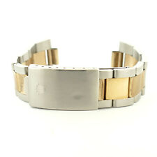 ROLEX 19MM 2-TONE GOLD + STAINLESS STEEL OYSTER MENS FULL BRACELET 78363 VE 14