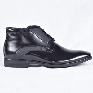 Herren Schuhe Boots Stiefeletten Business Schwarz Neu Leder 42 43 44 45