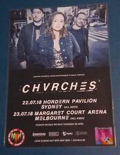 CHVRCHES - 2018 Australia Tour - Laminated Promotional Poster