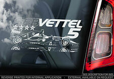 Sebastian Vettel #5 - Car Window Sticker - Seb Ferrari F1 2015 Formula 1 - V01