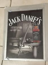 "JACK DANIEL'S WHISKEY & POOL ROOM BAR TIN SIGN 16X12 1/2"""