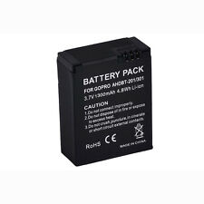 AHDBT-201/301 1300mAh Rechargeable Li-ion Battery for Gopro Hero 3 3+ Camera