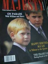Majesty Magazine V10 #4 William & Harry On Parade, Royals & Sunglasses, Queen Mo