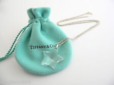 Tiffany & Co Silver Rock Crystal Star Necklace Pendant Chain Rare Classic!