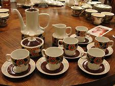 HOLLOHAZA VINTAGE DEMITASSE SET COFFE POT, CREAMER, SUGAR, 6 CUPS AND 6 SAUCER