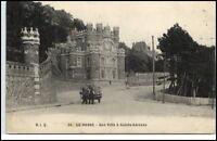 Le Havre France  CPA 1913 Carte Postale une Villa à Sainte Adresse Straßenpartie