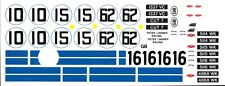 1962-63 #10 - #62 Jaguar E-Type 1/24th - 1/25th Scale Waterslide Decals