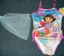 NWT Dora the Explorer Boots Beach Onepiece Swimsuit Skirt 4/5