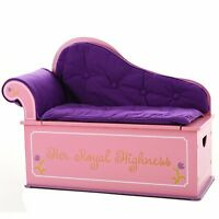 Levels of Discovery Toy Box Bench Seat w Storage Princess Fantasy Luxury Couch.