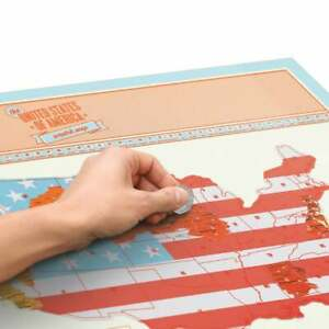Scratch Off USA Map With Full Scratch Accessories - Travel Map gift idea