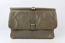VINTAGE Sac Pochette ANDRE Cuir Taupe TBE