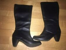 Dr Martens Mid Calf Heeled Black Boots size 5