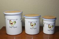 Rosanna Vintage Chicken Design - Flour,Sugar,Coffee Canister Made In Italy