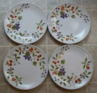 SET  OF 4   NORITAKE  BERRIES'N SUCH 9070   DINNER PLATES  10 1/2 inches across