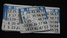 BINGO PAPER Cards 1 on 8 up Blue Border  100 packs  FREE SHIPPING IN US