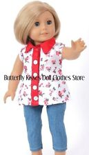 Roses Blouse+Capris Fits 18 in American Girl Doll Clothes Maryellen Melody