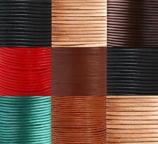 Real Round Leather Cord 100% Genuine 1, 2, 3, 4, 5, 6mm Black, Brown, Natural