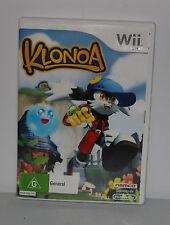 Klonoa (Nintendo Wii, 2009) DOOR TO PHANTOMILE PAL VERSION COMPLETE VGC