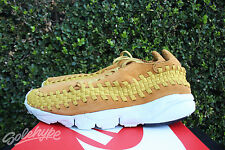 NIKE AIR FOOTSCAPE WOVEN CHUKKA NM SZ 9.5 DESERT OCHRE GOLD DART 875797 700