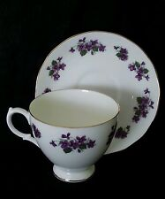 Vintage Queen Anne England bone china tea cup & saucer, circa 1950's