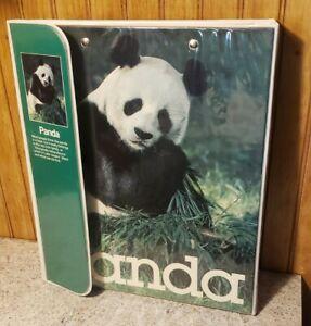 Vintage Mead Data Center 29300 Panda Notebook Binder w/ Green Folder