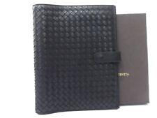 Authentic Bottega Veneta Leather Intrecciato Diary Cover Holder Agenda D1168