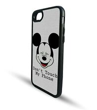 Mickey Dont Touch My Phone SnapBack TPU Rubber Phone Case Clip Cover Gift