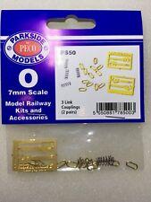 Peco Parkside PS50 3 Link Couplings (2 Pair) '0' Gauge Metal Kit -1st Class Post