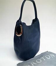 RRP$495 Brand New OROTON Kiera B Hobo Handbag Shoulder Bag Leather Navy