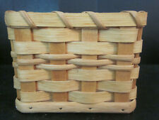 "Custom Made Swartzenberger Kleenex Tissue Basket Signed Dated Holds 4x4"" Sq Box"