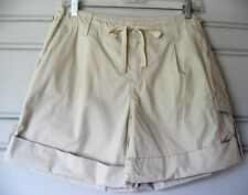 LIZ CLAIBORNE..TAN..CARGO ROLL..DRAW STRING..COTTON..SHORTS..NWT..sz 10