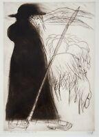 Pit Morell, Radierung, Ausstellungsplakat, signiert und datiert