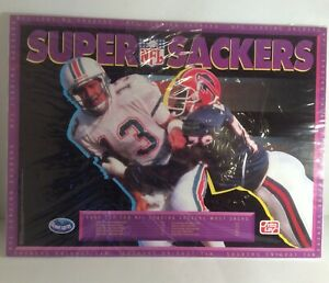 NFL VTG 1992 Super Sackers Poster Dan Marino Bruce Smith Ocean Spray Frito Lay