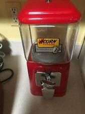 1 - Acorn Gumball Machine  -  Red Powder Coat Paint - Beautiful