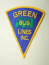 Vintage Green Bus Lines Inc Triangle Shape Iron On Patch