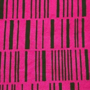 "Vtg Alexander Girard Herman Miller Heavy Cotton Fabric Pink Green Lines 51"" x31"""