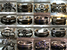 Solid 925 Sterling Silver - Adjustable Size! Toe Rings - 160 Unique Designs 100%
