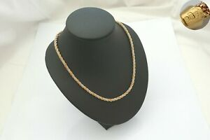 STUNNING HM 18ct YELLOW ROSE AND WHITE GOLD ROPE NECKLACE 15.04 g