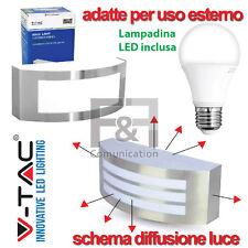Lampada applique a led da esterno/interno illuminazione luce faro faretto E27 A