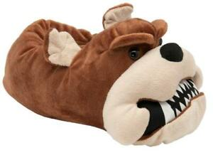 Men's British Footwear Growler Novelty Cute Fun Animal Dog Bulldog 3D Slippers