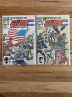 G.I. Joe Order of Battle 1 & 2 (Marvel 1986 Limited Series) Lot - Great Gift 🎁
