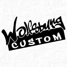Wolfsburg Custom tuning ratte waffenschmiede Shocker Sticker Aufkleber JDM 18cm