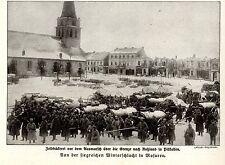 Winterschlacht in Masuren * Feldbäckerei in Pillkallen * Bilddokument 1915