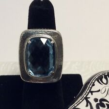 BRIGHTON YOUR TRUE COLOR BALANCED Silver Aquamarine Blue RING Size 5.5 NWOT