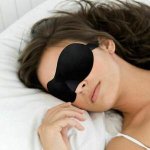 3D Eye Mask Soft Sponge Padded Blindfold Travel Rest Sleep Aid Shade Cover Black