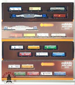 Z 1:220 scale Märklin model trains Set freight cars 8663 8690
