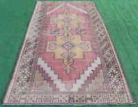 Turkish Rug 58''x110'' Vintage Light Muted Color Rug Oushak Carpet 150x280cm 4x9